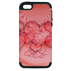 Heart Love Friendly Pattern Apple Iphone 5 Hardshell Case (pc+silicone)