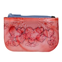 Heart Love Friendly Pattern Large Coin Purse