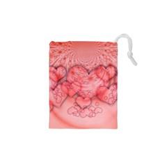 Heart Love Friendly Pattern Drawstring Pouches (xs)