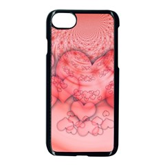 Heart Love Friendly Pattern Apple Iphone 7 Seamless Case (black)