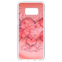 Heart Love Friendly Pattern Samsung Galaxy S8 White Seamless Case