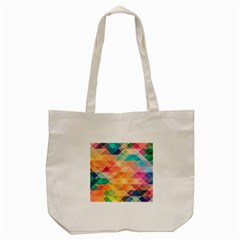 Texture Background Squares Tile Tote Bag (cream)