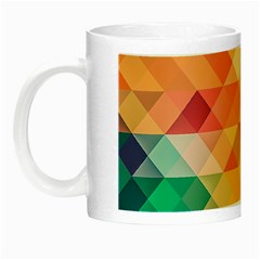 Texture Background Squares Tile Night Luminous Mugs