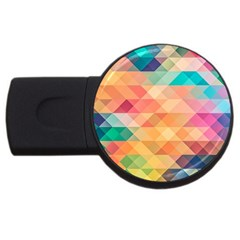 Texture Background Squares Tile Usb Flash Drive Round (4 Gb)