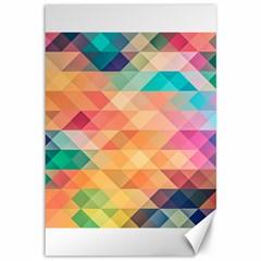 Texture Background Squares Tile Canvas 12  X 18