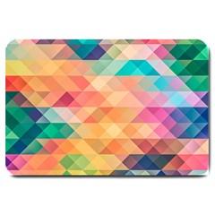Texture Background Squares Tile Large Doormat