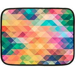Texture Background Squares Tile Fleece Blanket (mini)