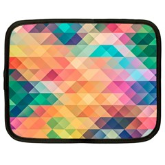 Texture Background Squares Tile Netbook Case (xxl)