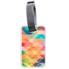 Texture Background Squares Tile Luggage Tags (one Side)
