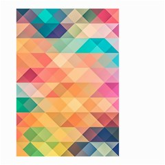 Texture Background Squares Tile Small Garden Flag (two Sides)