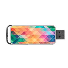 Texture Background Squares Tile Portable Usb Flash (two Sides)