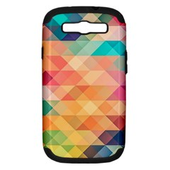 Texture Background Squares Tile Samsung Galaxy S Iii Hardshell Case (pc+silicone)