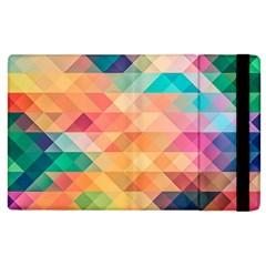 Texture Background Squares Tile Apple Ipad 2 Flip Case