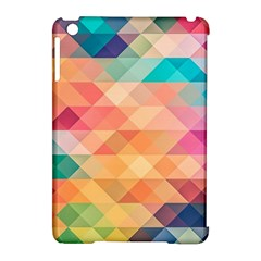 Texture Background Squares Tile Apple Ipad Mini Hardshell Case (compatible With Smart Cover)