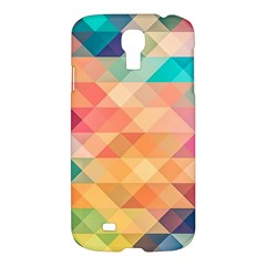 Texture Background Squares Tile Samsung Galaxy S4 I9500/i9505 Hardshell Case