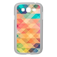 Texture Background Squares Tile Samsung Galaxy Grand Duos I9082 Case (white)