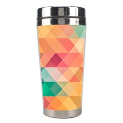 Texture Background Squares Tile Stainless Steel Travel Tumblers by Nexatart