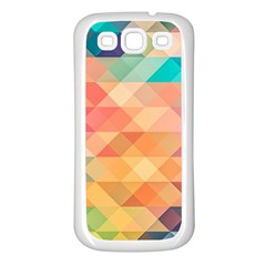 Texture Background Squares Tile Samsung Galaxy S3 Back Case (white)