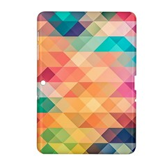 Texture Background Squares Tile Samsung Galaxy Tab 2 (10 1 ) P5100 Hardshell Case