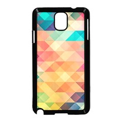 Texture Background Squares Tile Samsung Galaxy Note 3 Neo Hardshell Case (black)