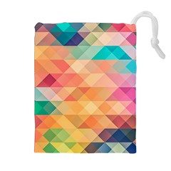 Texture Background Squares Tile Drawstring Pouches (extra Large)
