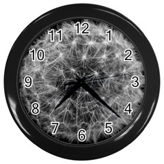 Dandelion Fibonacci Abstract Flower Wall Clocks (black)