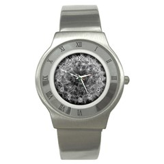 Dandelion Fibonacci Abstract Flower Stainless Steel Watch