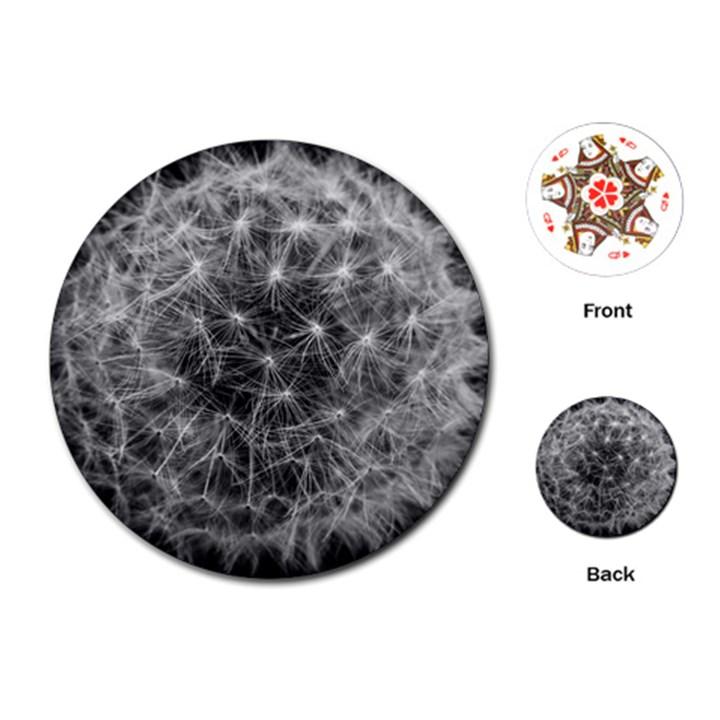 Dandelion Fibonacci Abstract Flower Playing Cards (Round)