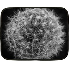 Dandelion Fibonacci Abstract Flower Fleece Blanket (mini)