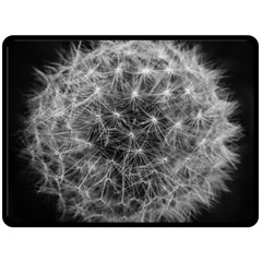 Dandelion Fibonacci Abstract Flower Fleece Blanket (large)