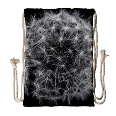 Dandelion Fibonacci Abstract Flower Drawstring Bag (large)