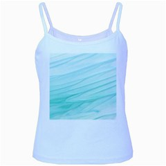Blue Texture Seawall Ink Wall Painting Baby Blue Spaghetti Tank