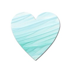 Blue Texture Seawall Ink Wall Painting Heart Magnet