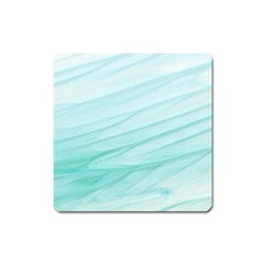 Blue Texture Seawall Ink Wall Painting Square Magnet