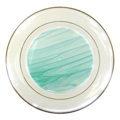 Blue Texture Seawall Ink Wall Painting Porcelain Plates