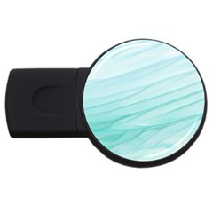Blue Texture Seawall Ink Wall Painting Usb Flash Drive Round (4 Gb)