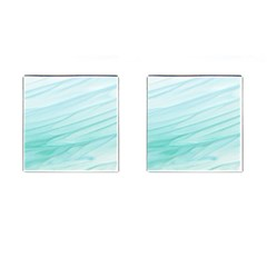 Blue Texture Seawall Ink Wall Painting Cufflinks (square)
