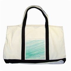 Blue Texture Seawall Ink Wall Painting Two Tone Tote Bag