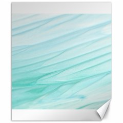 Blue Texture Seawall Ink Wall Painting Canvas 8  X 10