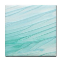 Blue Texture Seawall Ink Wall Painting Face Towel