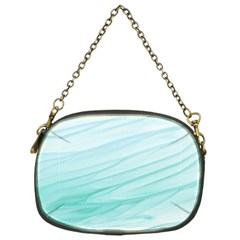 Blue Texture Seawall Ink Wall Painting Chain Purses (one Side)