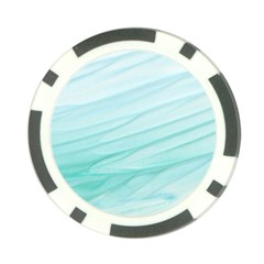 Blue Texture Seawall Ink Wall Painting Poker Chip Card Guard (10 Pack)