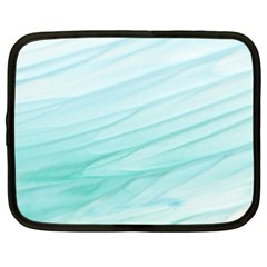 Blue Texture Seawall Ink Wall Painting Netbook Case (xl)