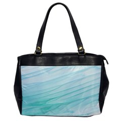 Blue Texture Seawall Ink Wall Painting Office Handbags