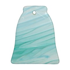 Blue Texture Seawall Ink Wall Painting Bell Ornament (two Sides)