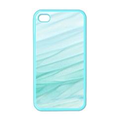 Blue Texture Seawall Ink Wall Painting Apple Iphone 4 Case (color)