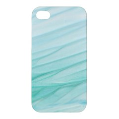 Blue Texture Seawall Ink Wall Painting Apple Iphone 4/4s Hardshell Case