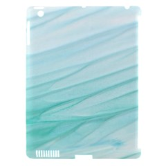 Blue Texture Seawall Ink Wall Painting Apple Ipad 3/4 Hardshell Case (compatible With Smart Cover)