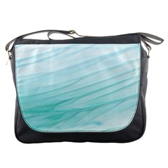 Blue Texture Seawall Ink Wall Painting Messenger Bags