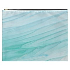 Blue Texture Seawall Ink Wall Painting Cosmetic Bag (xxxl)